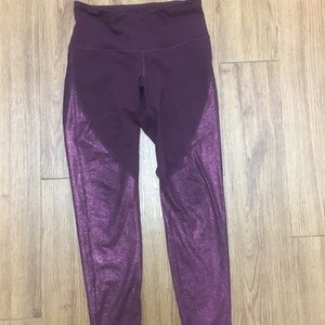 Purple athletic leggings